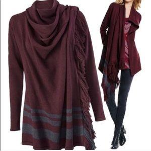 Cabi   Asymmetrical Port Sweater Wrap Cardigan